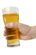 hand with full beer glass