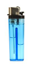 Side of blue lighter