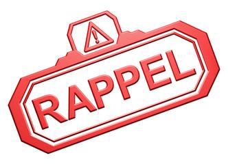 "Tampon ""Rappel"""