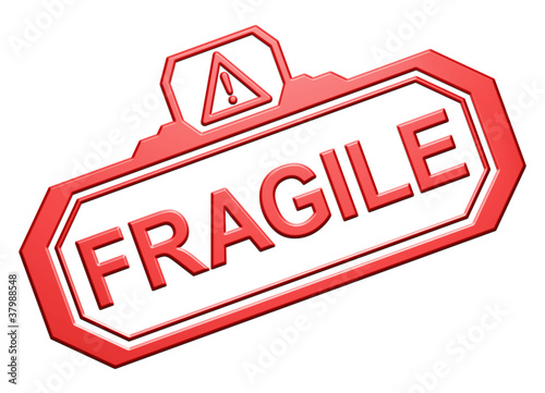 """Fragile"" Rubber Stamp"
