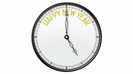Clock: Happy new year