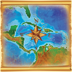 caribbean islands map