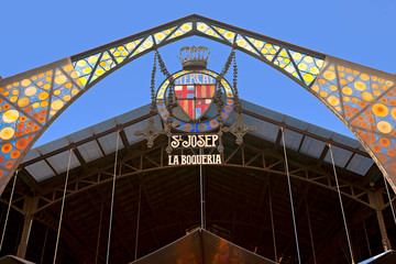 Mercat de la Boqueria, Barcelona, Spain.