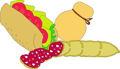panino cacio e salame