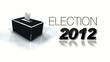 2012 election campaign black and white headlines