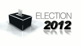 2012 election campaign black and white headlines poster