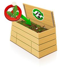 Composteur en bois : pas de plantes en graines dans le compost