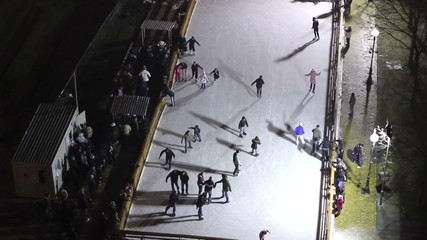 Public Skating Rink in Downtown  TIME LAPSE