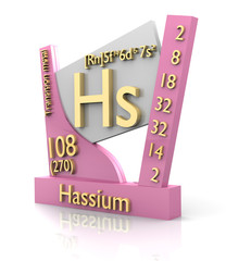 Hassium form Periodic Table of Elements - V2