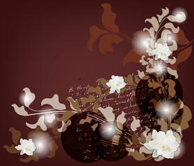 biglietto d'invito con differenti tipi di decorazioni barocche