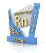 Radon form Periodic Table of Elements - V2