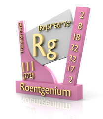 Roentgenium form Periodic Table of Elements - V2