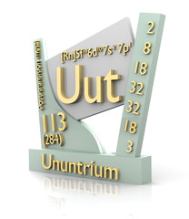 Ununtrium form Periodic Table of Elements - V2