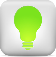 Green bulb button