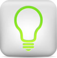 Green bulb button