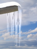 icicles from a roof gutter poster