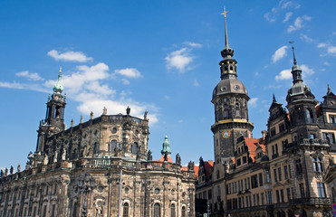 Hofkirche and Residenzschloss in Dresden