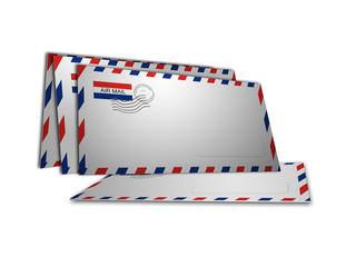 4 buste posta aerea