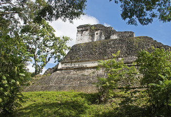 Ancient Maya structure in Guatemala