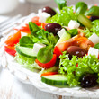 Vegetable salad with feta and kalamata olives
