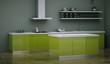 Küchendesign - Küche grau grün 2