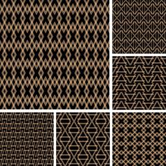 Seamless patterns set.