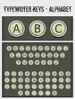 typewriter keys-alphabet-black