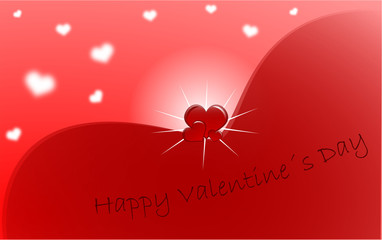 Red Valentine's Day greeting card