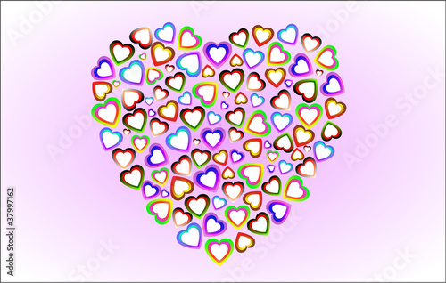 the heart of spousou small colored hearts