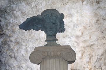Roman marble statue in Chania Crete Greece