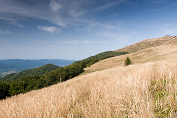 Bieszczady mountains in south east Poland