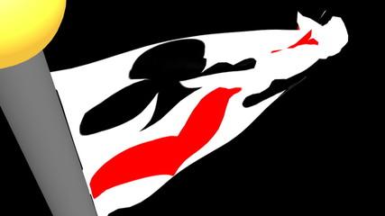 Bandiera semi carte da gioco - Quadri Cuori Picche Fiori