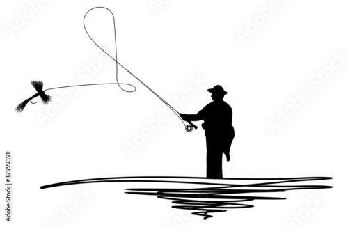 Man casting a line - 37999391