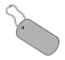 Dogtag/keychain illustration