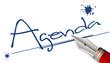 Agenda - Notiz mit Füller