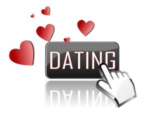 Icon Onlinedating mit Herzen