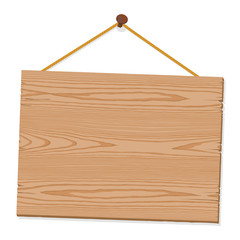 Hanging Blank Wooden Sign
