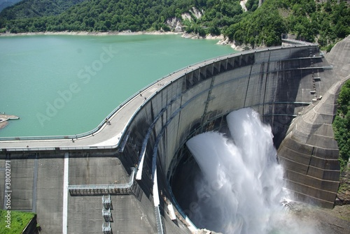 Fotobehang Dam 黒部ダム