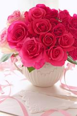 ピンクのバラのプレゼント