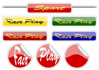 Sport - fair play - icons