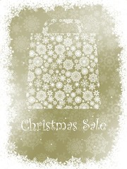 Snowflake gift bag on elegant background. EPS 8