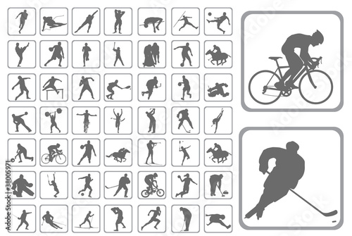 Silhouettes athlete