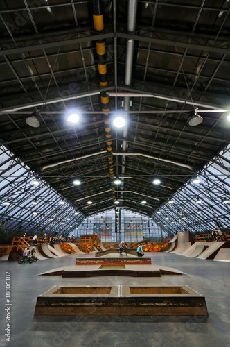 Skate park symmetric vertical interior