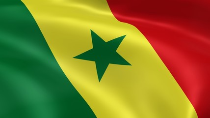 Senegalese flag in the wind