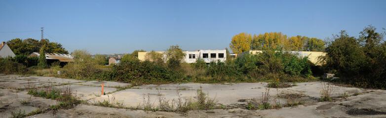 friche industrielle aux Mureaux, en France