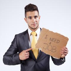 unemployed businessman that needs a job