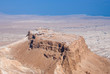 Birdseye view of Masada fortress, Israel