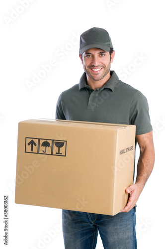 Happy courier