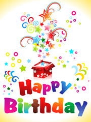 abstract birthday card with text