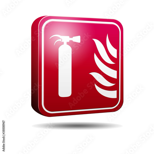 Icono 3D extintor de incendios
